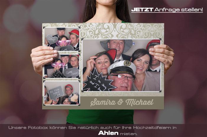 Wir vermieten eine Fotobox für Ihre Hochzeitsfeier in Ahlen