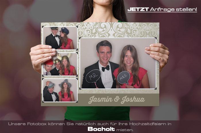 Mieten Sie eine Fotobox für Ihre Hochzeitsfeier in Bocholt