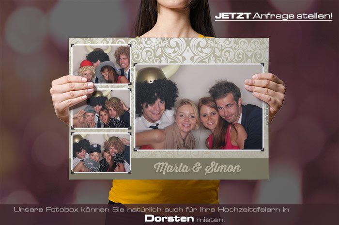 Wir vermieten eine Fotobox für Ihre Hochzeitsfeier in Dorsten