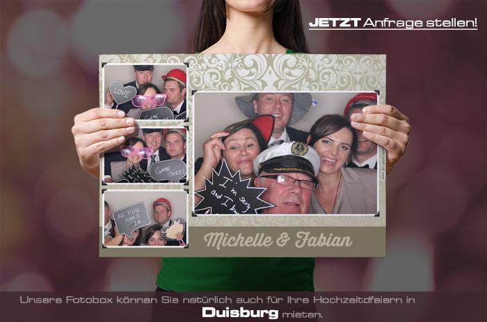 Mieten Sie eine Fotobox für Ihre Hochzeitsfeier in Duisburg