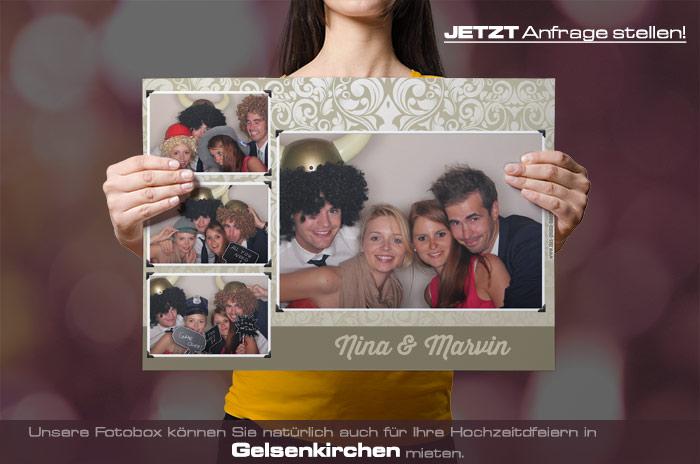 Mieten Sie eine Fotobox für Ihre Hochzeitsfeier in Gelsenkirchen