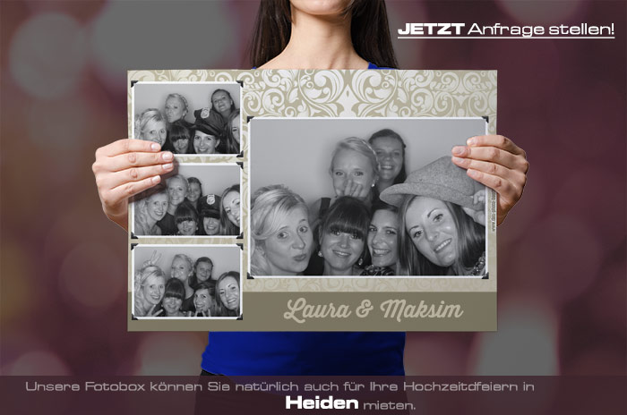 Wir vermieten eine Fotobox für Ihre Hochzeitsfeier in Heiden