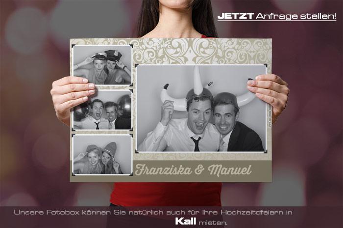 Mieten Sie eine Fotobox für Ihre Hochzeitsfeier in Kall