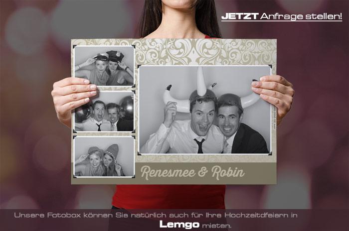 Mieten Sie eine Fotobox für Ihre Hochzeitsfeier in Lemgo