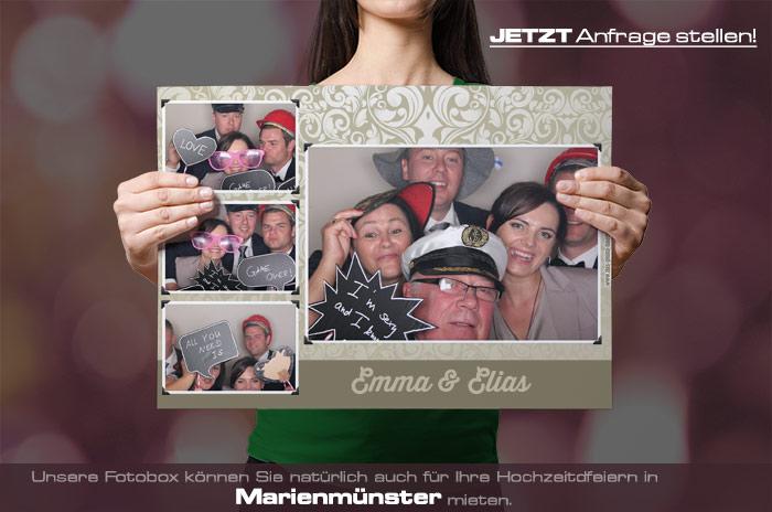 , Fotobox für Hochzeit in Marienmünster mieten
