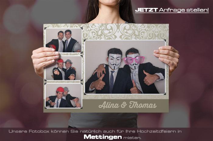 Mieten Sie eine Fotobox für Ihre Hochzeitsfeier in Mettingen