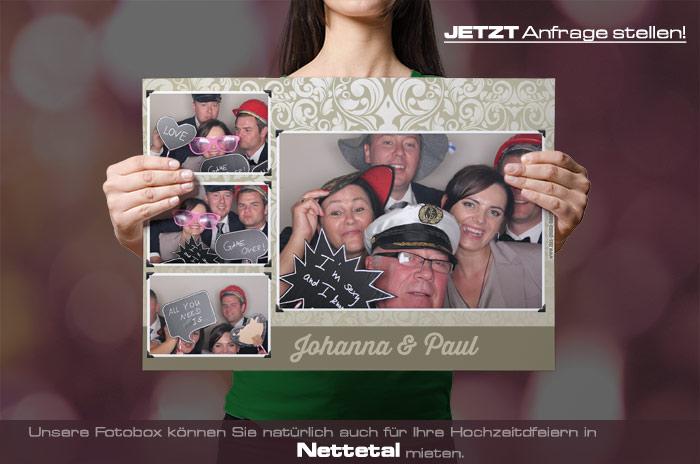 , Heiraten in Nettetal – dann mieten Sie sich eine Fotobox