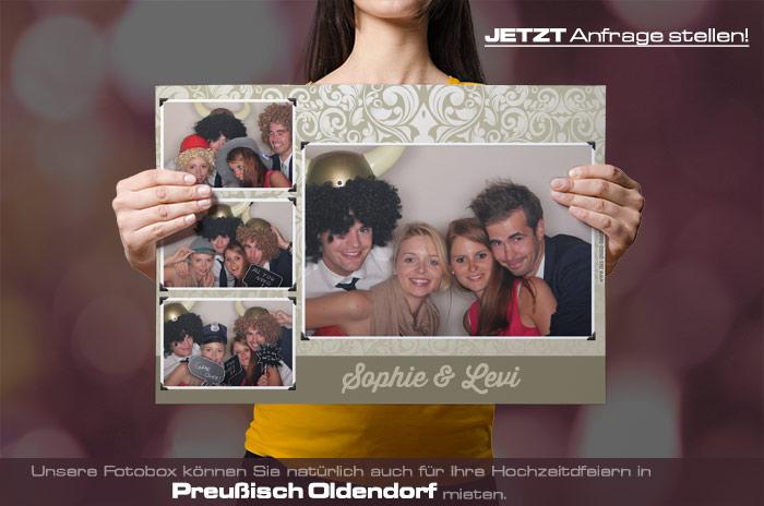 Wir vermieten eine Fotobox für Ihre Hochzeitsfeier in Preußisch Oldendorf