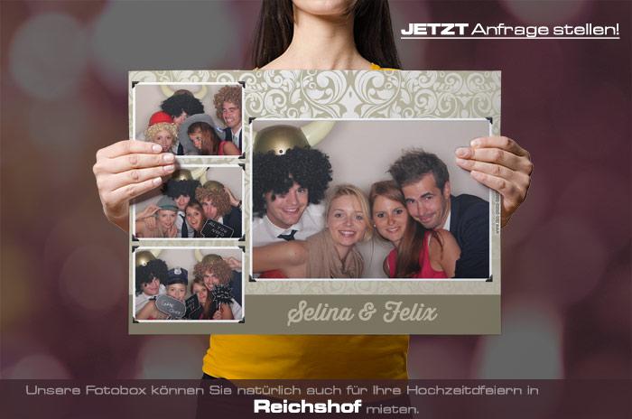 , Fotobox für Hochzeit in Reichshof mieten