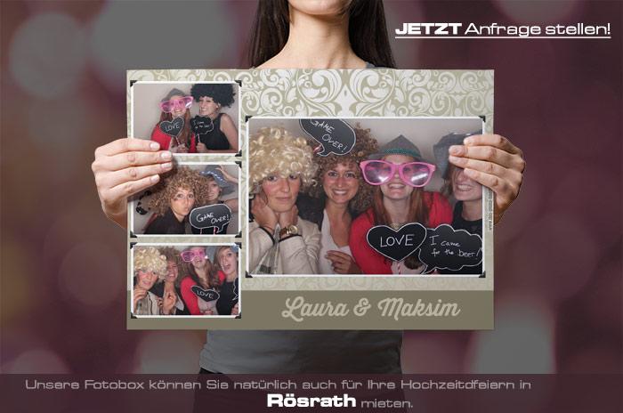 , Fotobox für Hochzeit in Rösrath mieten