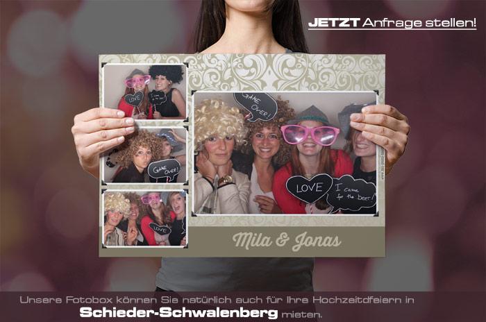 Wir vermieten eine Fotobox für Ihre Hochzeitsfeier in Schieder-Schwalenberg