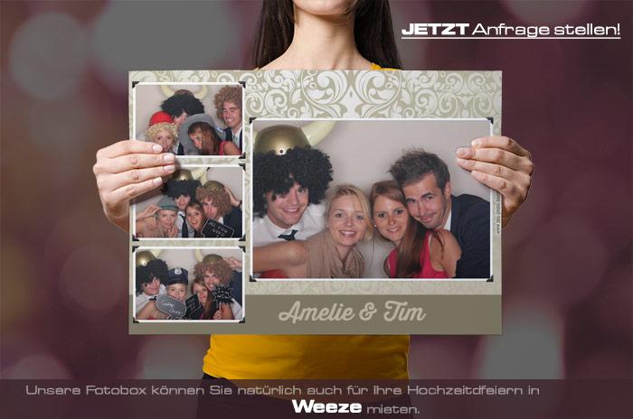 Mieten Sie eine Fotobox für Ihre Hochzeitsfeier in Weeze